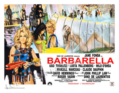BARBARELLA LOBBY CARD POSTER PHOTOBUSTA 1968 JANE FONDA JOHN PHILLIP LAW