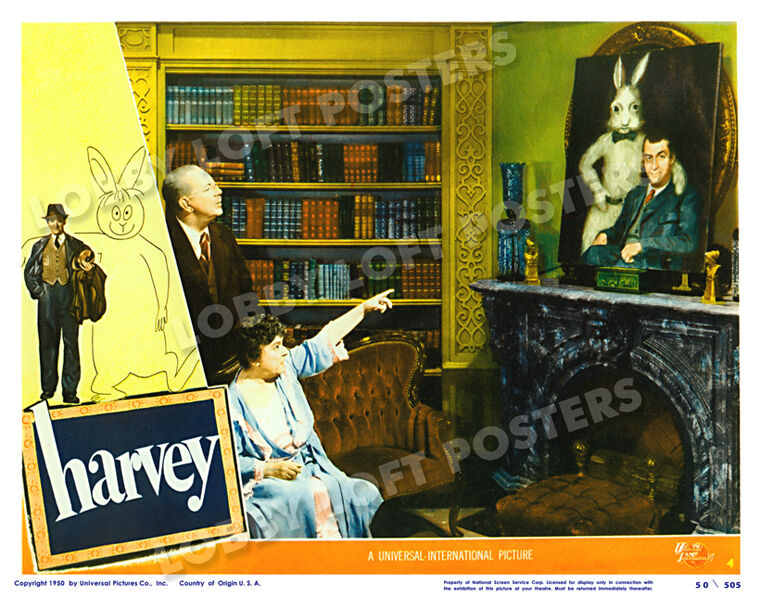 HARVEY LOBBY SCENE CARD # 4 POSTER 1950 JAMES STEWART