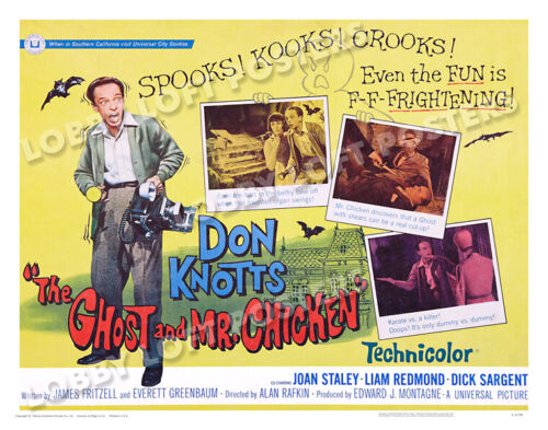THE GHOST AND MR. CHICKEN LOBBY CARD POSTER HS 1966 DON KNOTTS JOAN STALEY