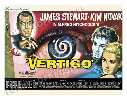 VERTIGO LOBBY CARD POSTER HS/BEL 1958 JAMES STEWART KIM NOVAK ALFRED HITCHCOCK