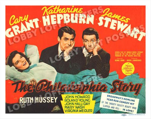 THE PHILADELPHIA STORY LOBBY TITLE CARD POSTER 1940 KATHARINE HEPBURN CARY GRANT