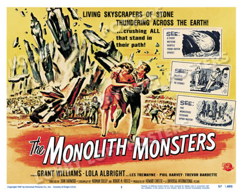 THE MONOLITH MONSTERS LOBBY TITLE CARD POSTER 1957 GRANT WILLIAMS LOLA ALBRIGHT