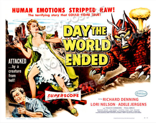 DAY THE WORLD ENDED LOBBY CARD POSTER HS 1955 RICHARD DENNING LORI NELSON