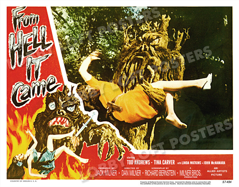 FROM HELL IT CAME LOBBY SCENE CARD POSTER 1957 TABANGA TINA CARVER TOD ANDREWS