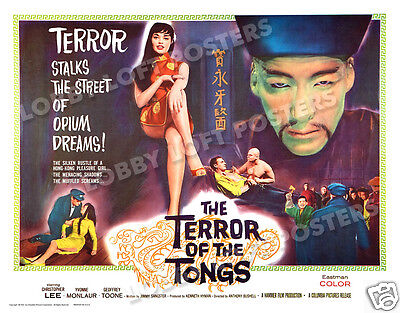 THE TERROR OF THE TONGS LOBBY CARD POSTER HS 1961 CHRISTOPHER LEE YVONNE MONLAUR - $14.95