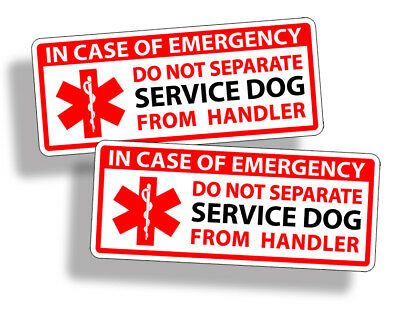 Service Dog Emergency Handler Rescue Sticker Car Van Home Window Door Safety EMT