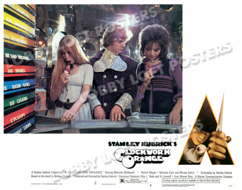 A CLOCKWORK ORANGE LOBBY SCENE CARD # 5 POSTER 1972
