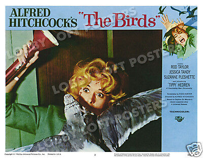THE BIRDS LOBBY SCENE CARD 2 POSTER 1963 TIPPI HEDREN ALFRED HITCHCOCK - $14.95