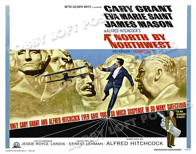 NORTH BY NORTHWEST LOBBY CARD POSTER HS 1966-R CARY GRANT EVA MARIE SAINT