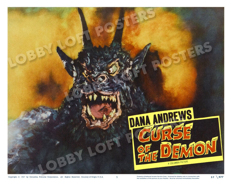 CURSE OF THE DEMON LOBBY SCENE CARD # 5 POSTER 1957 DANA ANDREWS