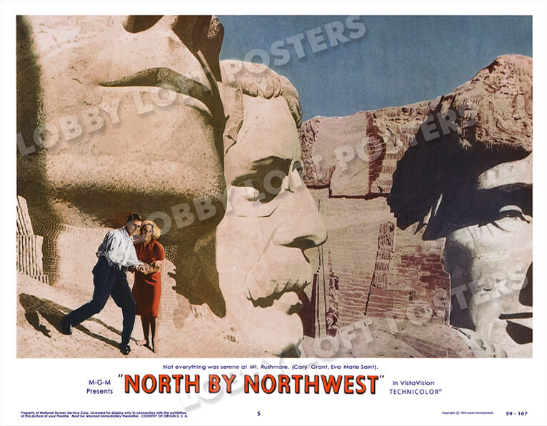 NORTH BY NORTHWEST LOBBY SCENE CARD # 5 POSTER 1959 CARY GRANT EVA MARIE SAINT