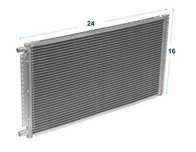 """A/C AC Universal Condenser 16"""" X 24"""" Parallel High Flow O-ring #6 & #8"""