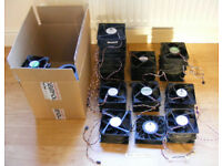 Box of fans. Mostly 120mm, mostly 5-pin server connections