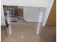 LED ILLUMINATED BATHROOM WALL MIRROR CABINET STORAGE CUPBOARD LIGHT