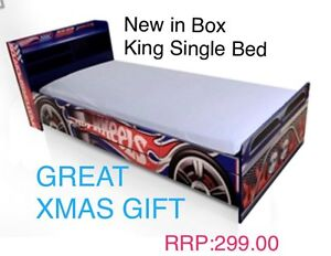 BED HOT WHEELS KING SINGLE BED  (NEW) Quakers Hill Blacktown Area Preview
