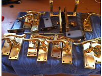 Job lot brass door handles