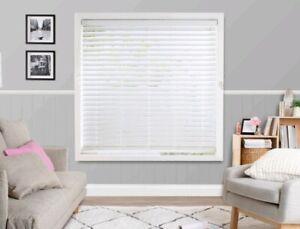 150 x 150 CM x 63mm white faux wooden Venetian blind