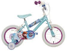 "Halfords Disney Frozen Kids Girls Bike Bicycle 14"" Inch Wheels With Stabilisers"