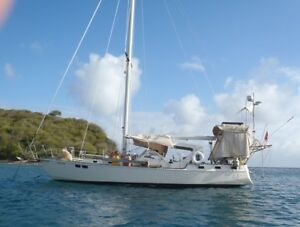 Bruce Roberts Cruising Steel Hull Sailboat in St Martin