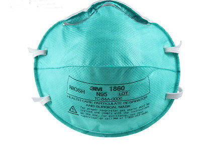 Box of 10-3M 1860 REG Size N95 Medical Respirator/Masks, Flu Free shipping