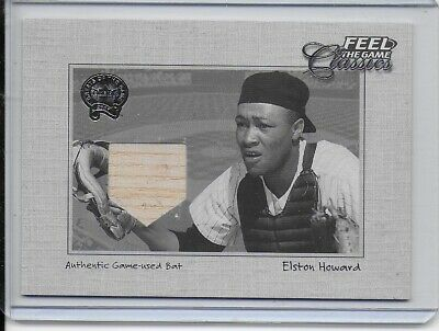 2001 Fleer Greats of the Game Feel the Game Classics Elston Howard Bat Card