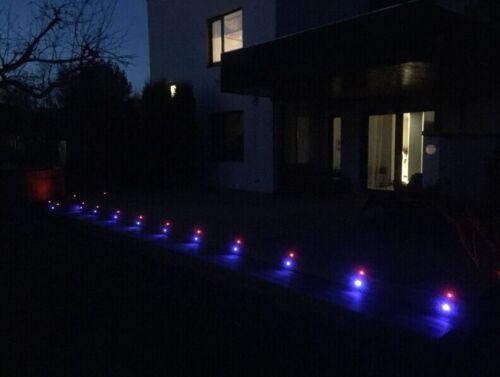 20pcs Set Rgb 22mm 12v Outdoor Garden Patio Landscape Inground Led Deck Lights Ebay