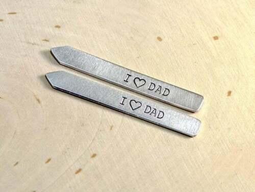 aluminum collar stays for dad - handmade