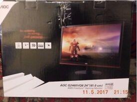 "AOC G2460VQ6 24""(61.0 CM) 24 INCH PC MONITOR FULLHD VGA/HDMI FREESYNC GAMING MONITOR"