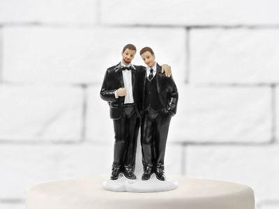 Pastel Topper Dos Cónyuges Gay Novio Estatuilla Tarta Boda Matrimonio de Oro