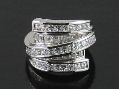 Xavier 2 25Ct Absolute Princess   Baguette Retro Collection Wrap Ring   Size 7