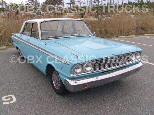 8x10 Photo: Of a 1963 Vintage FORD FAIRLANE 500 Hardtop Coupe, 4dr. V8 muscle!