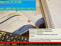 Scarborough Math Tutor 1-1 for Low Price