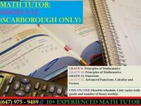 High School One-on-One Private Tutor - Starting at Low Rate $$$
