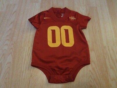 Infant/Baby Iowa State Cyclones ISU 6/9 Mo #00 Nike Football Jersey Creeper Body ()