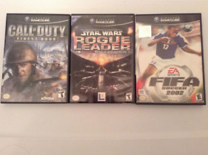 Rogue Leader / CoD Finest Hour / Fifa 2002 Gamecube