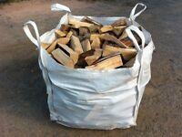 Seasoned Hardwood Logs in West Lothian, (1 Ton Bulk Bags) Pre-Season Deals @ Glendevon Fire Fuels
