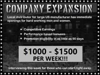 Company Expansion $1000-1500 Per Week