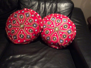 BEAUTIFUL DECORATIVE CUSHIONS- EMBROIDERED/SEQUINS