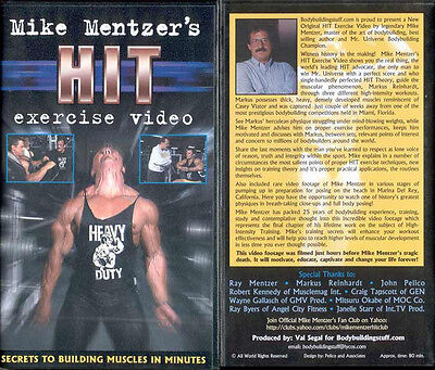 Mike Mentzer Rare Workout DVD Bodybuilding HIT Muscle Building Video