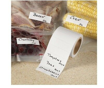 Freezer Labels, Special Adhesive Sticks Firmly To Foil, Freezer Wrap, or Plastic