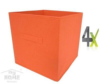 Boxen MIXXIT 4-SET Fach Box Expedit Kallax Regal Kiste Aufbewahrung orange 4x