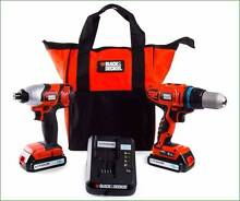 Black & Decker Lithium 18V Impact Drill Combo(2 of them in 1 box) Mawson Lakes Salisbury Area Preview