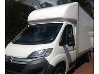 Man and Large Luton Van with Tail-lift for Removals Office Moves Pianos etc