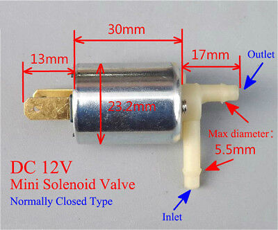 Dc 12v Mini Small Electric Solenoid Valve For Gas Water Air Nc Normally Closed