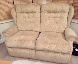 2 seater recliner settee immaculate condition
