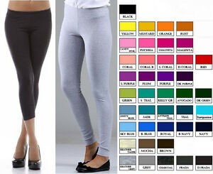 S-M-L-XL-XXXL-STRETCH-COTTON-SLIM-FIT-YOGA-PANTS-LEGGINGS-TIGHTS-capri-or-long