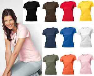 Hanes-Plain-Summer-Weight-Organic-Cotton-Ladies-Womens-Womans-Girls-Tee-T-Shirt