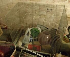 Rat/animal cage and accessories