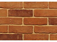 NEW IMPERIAL HANDMADE 'FARM HOUSE ORANGE' BRICKS - 525 BRICKS PER PALLET