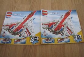 Lego Creator 3 in 1 Jet Plane Sweep Wings system + Instructions Superb Condition
